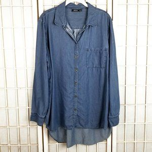 ANA A New Approach Chambray Denim Tunic Top XL